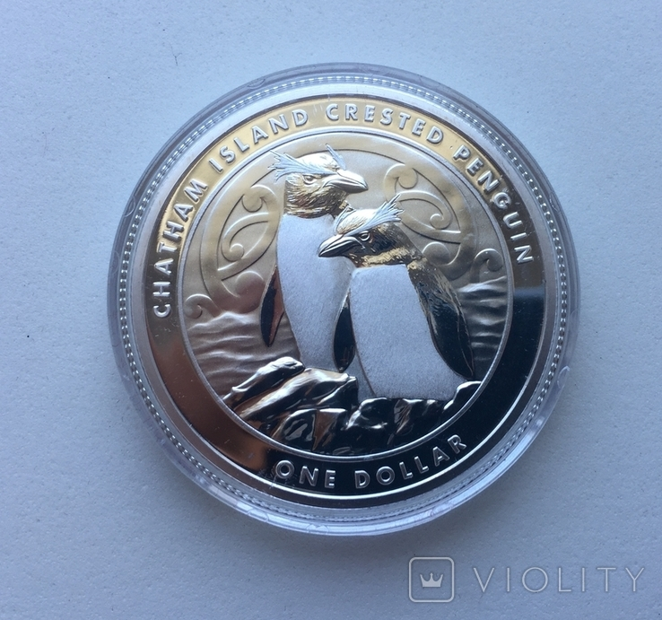 Хохлатый пингвин 2020 Новая Зеландия Фауна Сертификат, фото №2