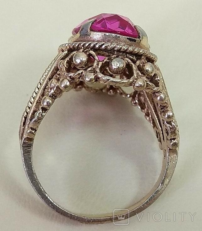 Кольцо с розовым камнем (3), фото №6