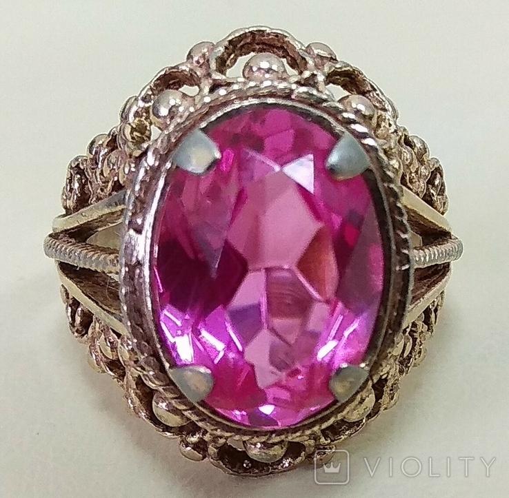 Кольцо с розовым камнем (3), фото №9