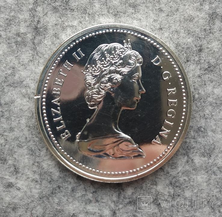 Канада 1 доллар 1974 серебро Пруфлайк Виннипег, фото №3