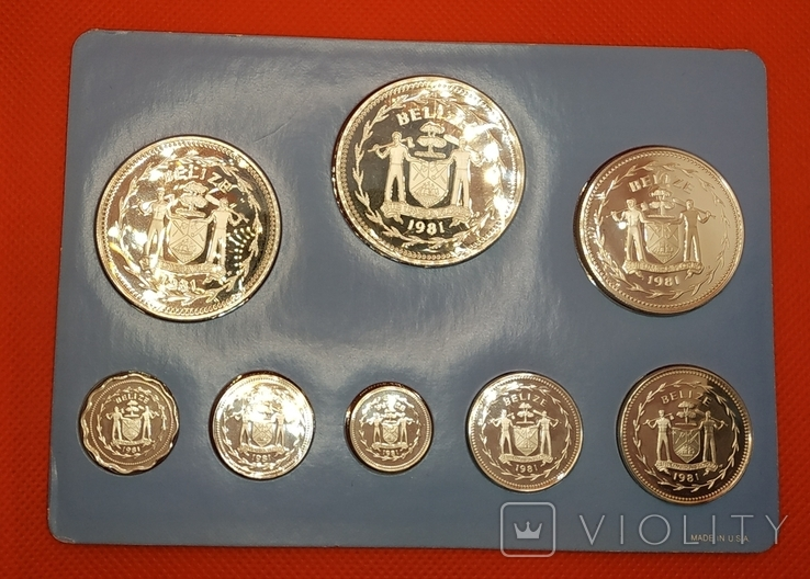 Белиз 1981 набор ПРУФ серебро/925 Птицы BOX + сертификат, фото №4