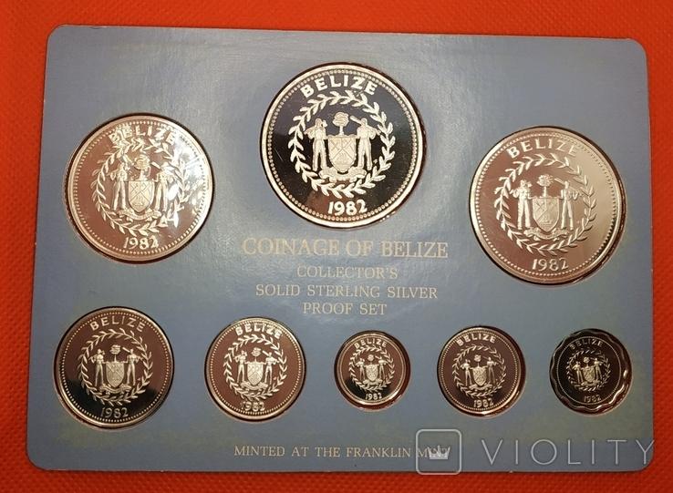 RAR!!! Белиз 1982 набор ПРУФ серебро/925 Птицы BOX + сертификат, фото №4