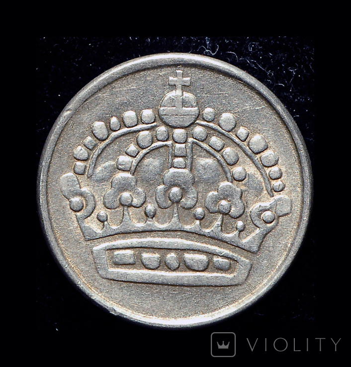 Швеция 25 эре 1959 серебро, фото №2