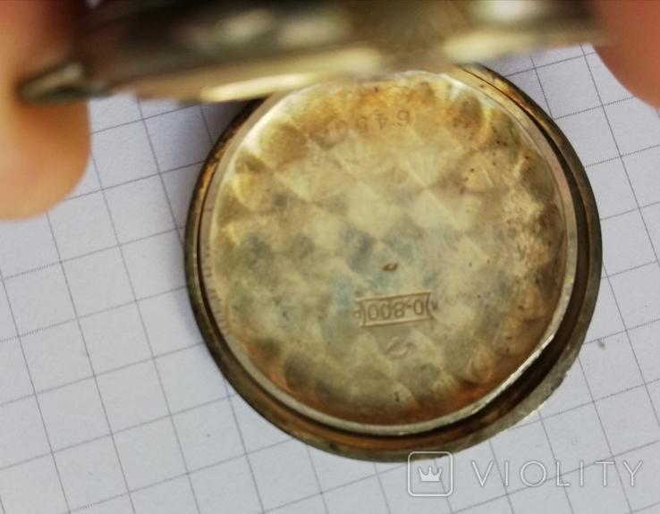 Карманные серебряные часы механика не на ходу, фото №2