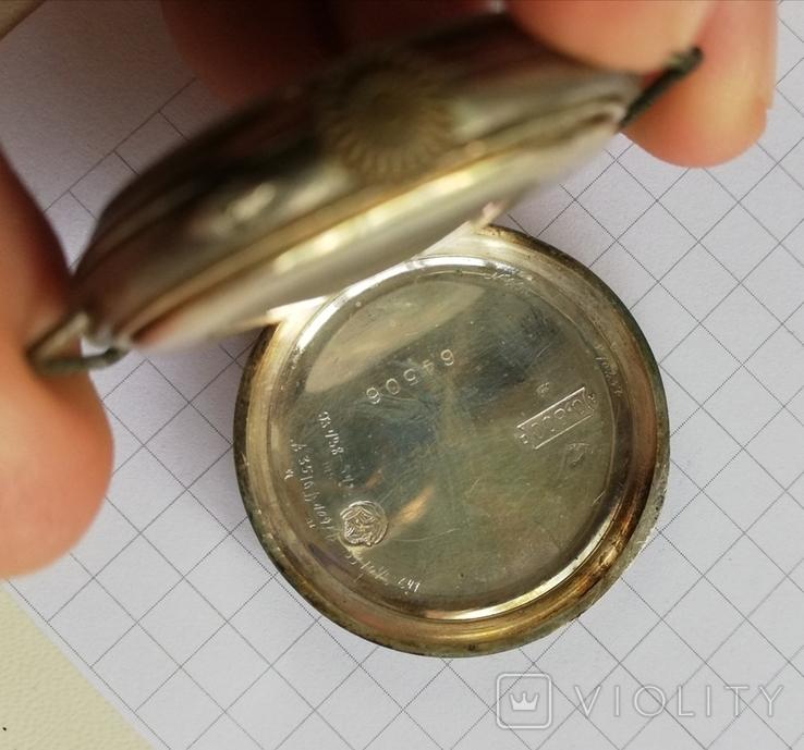 Карманные серебряные часы механика не на ходу, фото №5