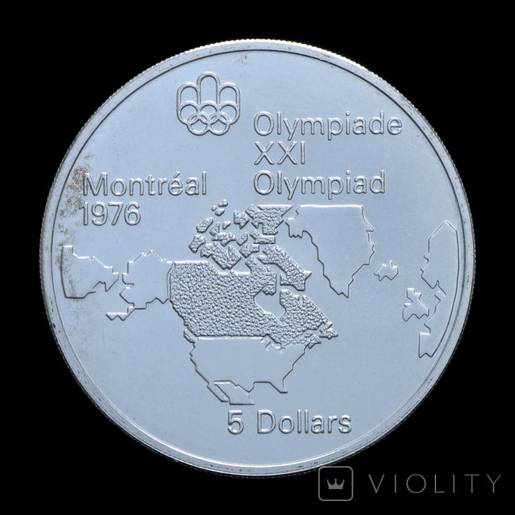5 Долларов 1973 Карта Канады (Серебро 0.925, 24.3г), Канада, фото №2