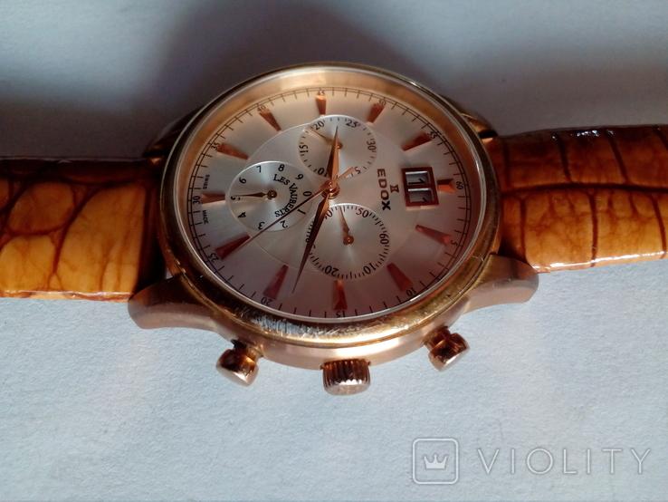 Швейцарские наручные часы Edox 10005-37RAIR с хронографом, фото №4