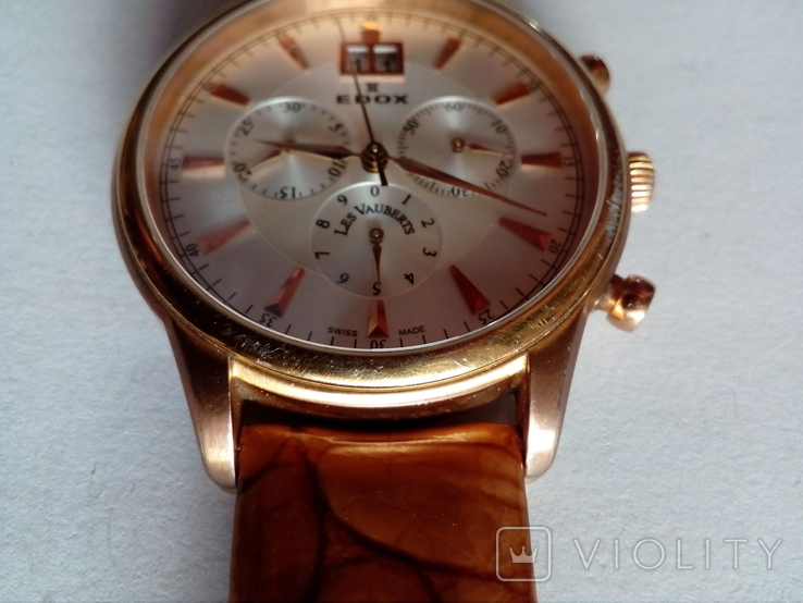 Швейцарские наручные часы Edox 10005-37RAIR с хронографом, фото №6