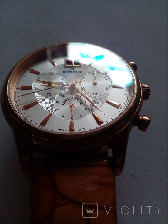 Швейцарские наручные часы Edox 10005-37RAIR с хронографом, фото №10