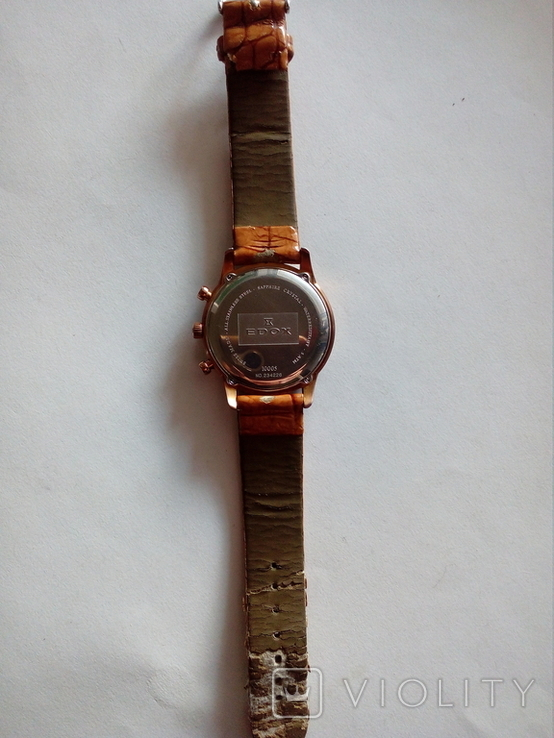 Швейцарские наручные часы Edox 10005-37RAIR с хронографом, фото №13