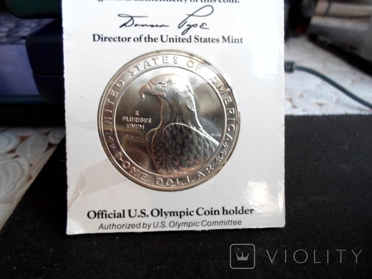 Доллар1983г,Олимпиада,в слабе, фото №5