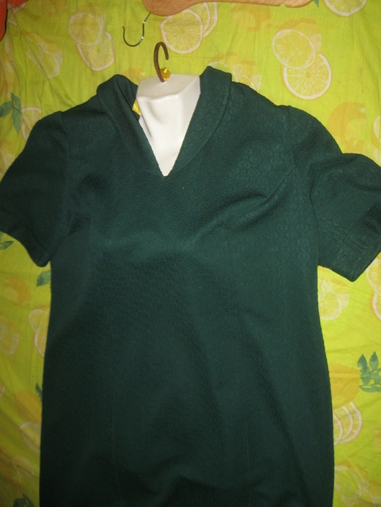 Кримпленовое платье СССР. 58, фото №2