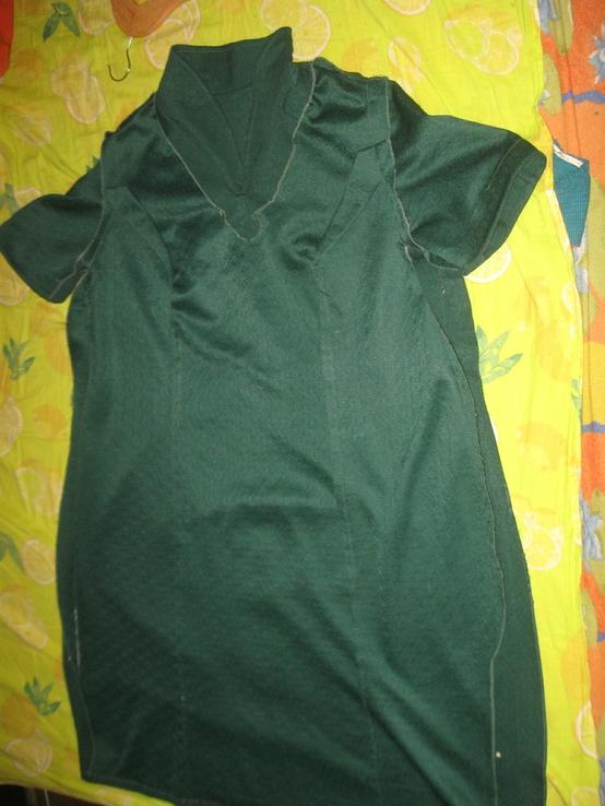 Кримпленовое платье СССР. 58, фото №4