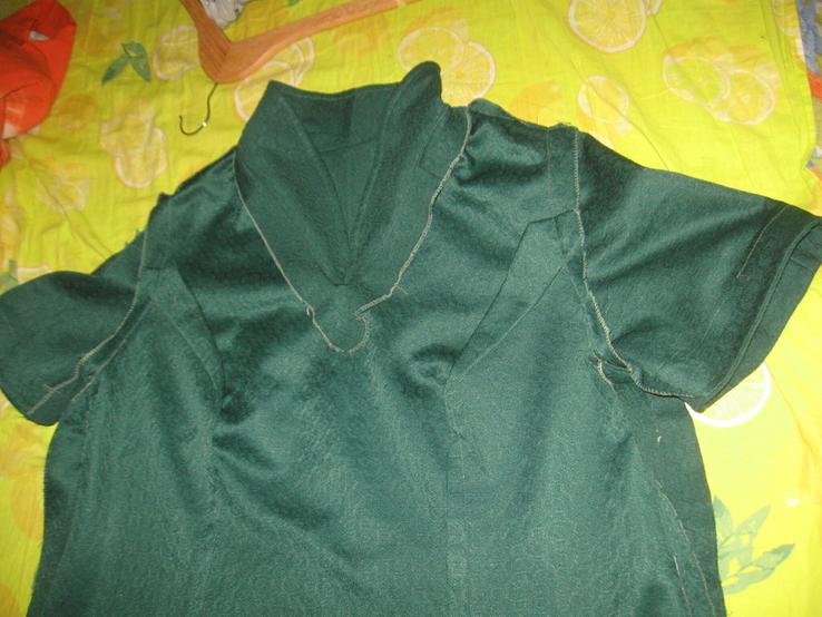 Кримпленовое платье СССР. 58, фото №9