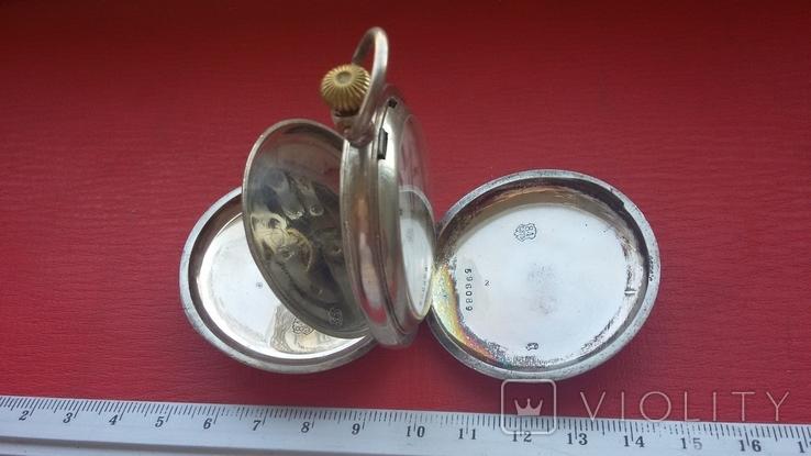 Часы BRENETS в серебряном корпусе трехкрышечные, фото №3