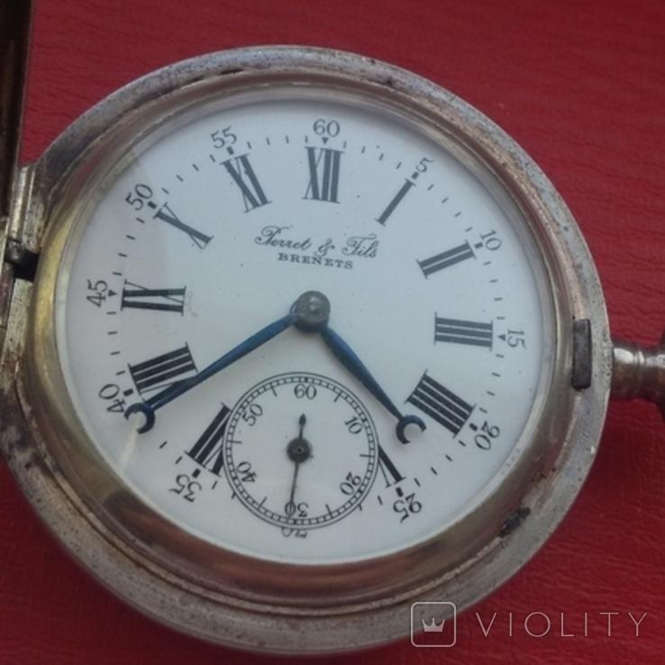 Часы BRENETS в серебряном корпусе трехкрышечные, фото №6