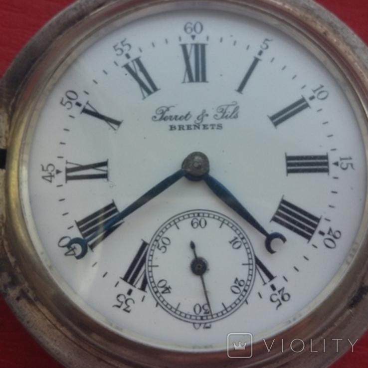Часы BRENETS в серебряном корпусе трехкрышечные, фото №2