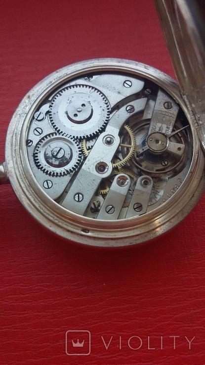 Часы BRENETS в серебряном корпусе трехкрышечные, фото №13