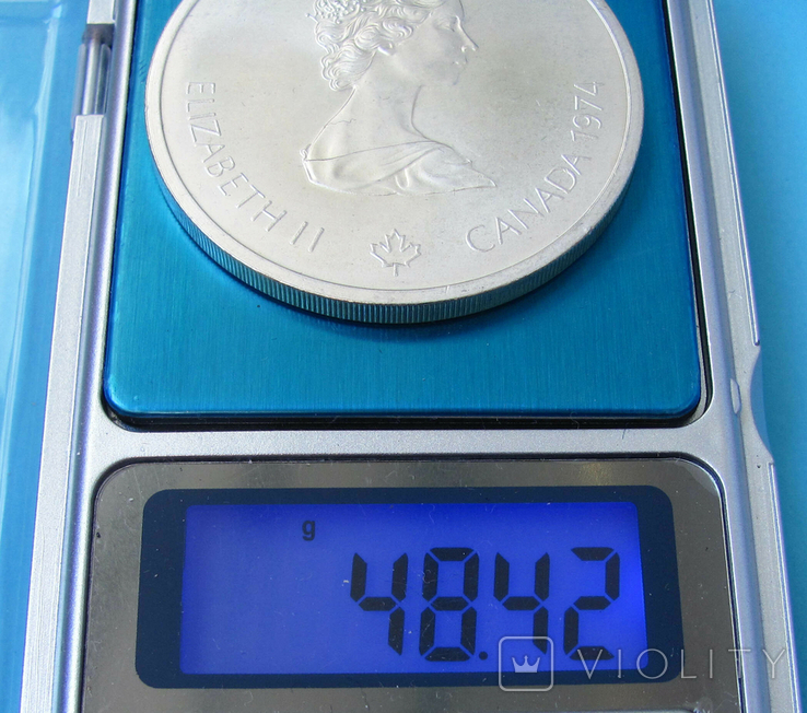 1974 Канада Серебро, 10 долларов Спорт, Олимпиада в Монреале s01, фото №6