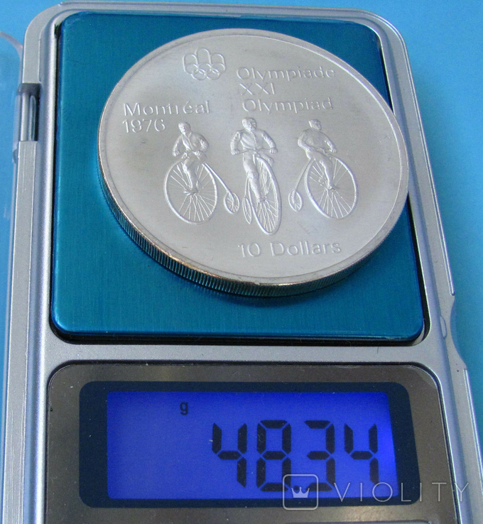 1974 Канада Серебро, 10 долларов Спорт, Олимпиада в Монреале s03, фото №4