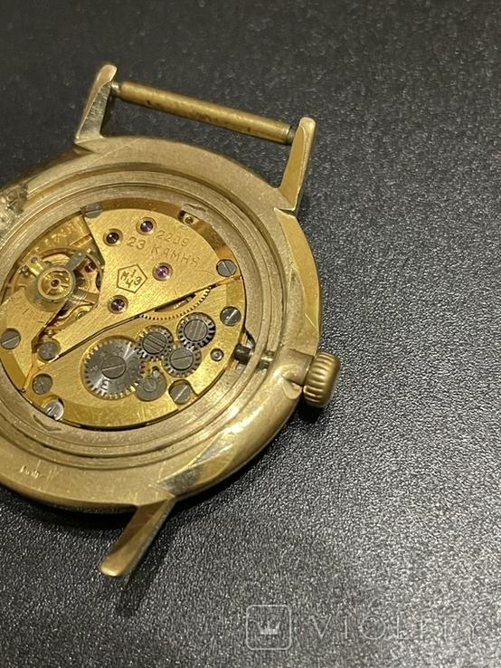 Часы наручные СССР Полёт Де Люкс Ау10 на уверенном ходу, фото №4