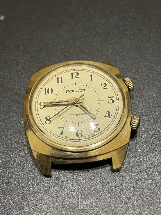 Часы наручные СССР Полёт Будильник Ау5 на уверенном ходу, фото №2
