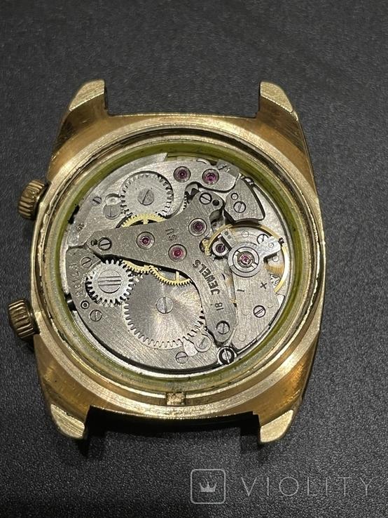 Часы наручные СССР Полёт Будильник Ау5 на уверенном ходу, фото №4