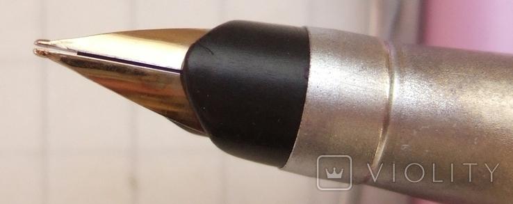 """Перьевая ручка """"Dolphin-278G"""". Пишет довольно мягко и очень насыщенно., фото №3"""
