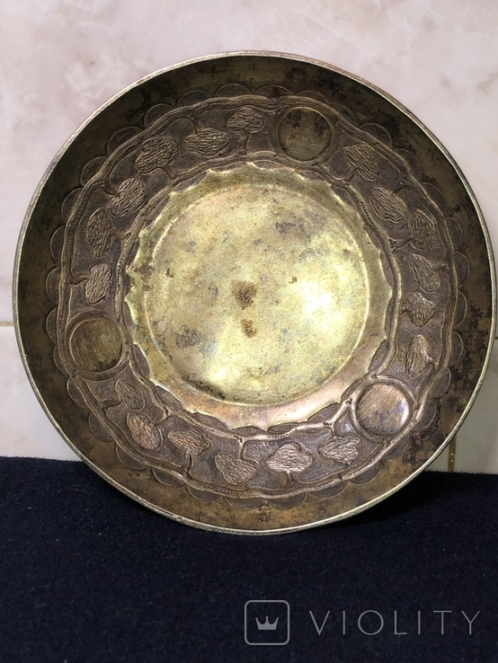 Блюдце для подношений, серебро 84. 1857 г, фото №5