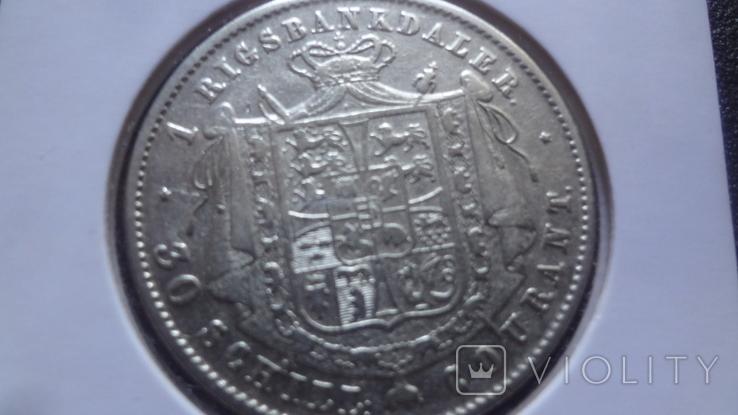1 риксбандалер 30 шиллингов 1851 Дания серебро Холдер 192, фото №4
