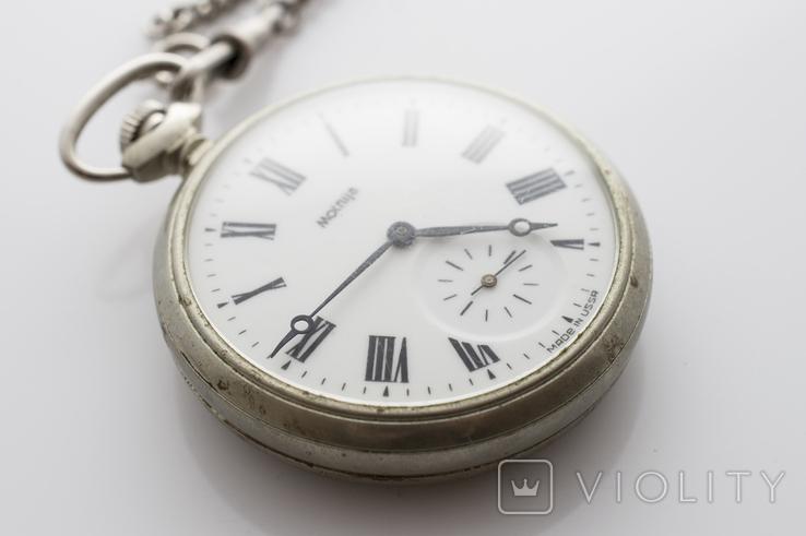 """Годинник кишеньковий """"Молнія"""" кораблик, фото №3"""