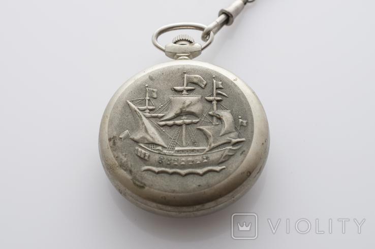 """Годинник кишеньковий """"Молнія"""" кораблик, фото №7"""