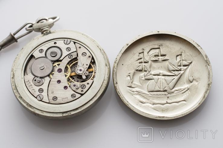 """Годинник кишеньковий """"Молнія"""" кораблик, фото №8"""