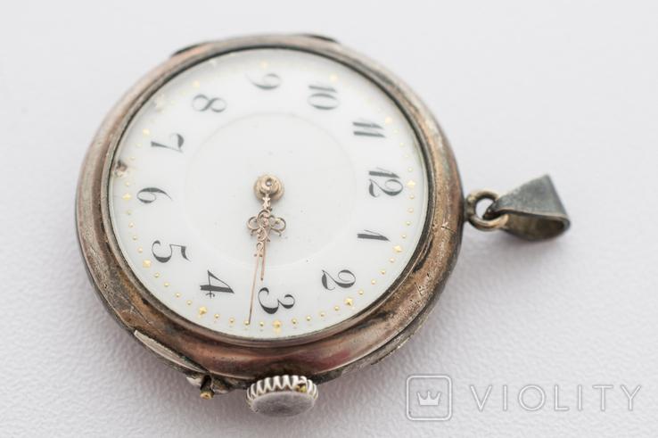 Годинник-підвіска срібний жіночий, фото №3