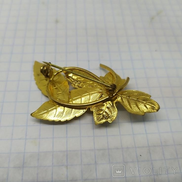 Винтажная брошь Листики. 35х55мм (3), фото №7