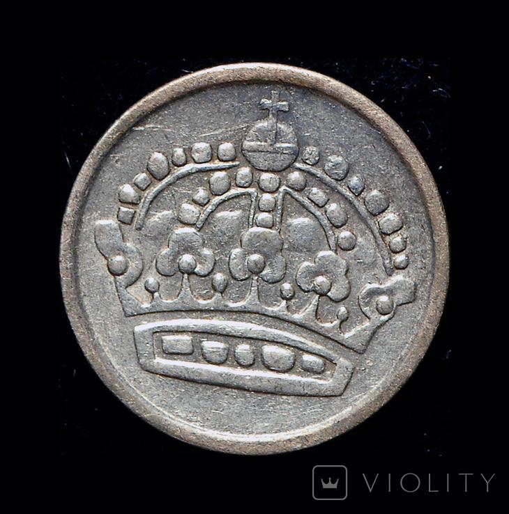 Швеция 10 эре 1953 серебро, фото №3