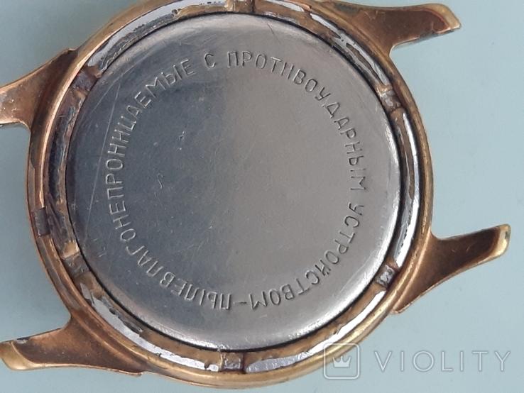 Часы позолоченные с рисунком, фото №4