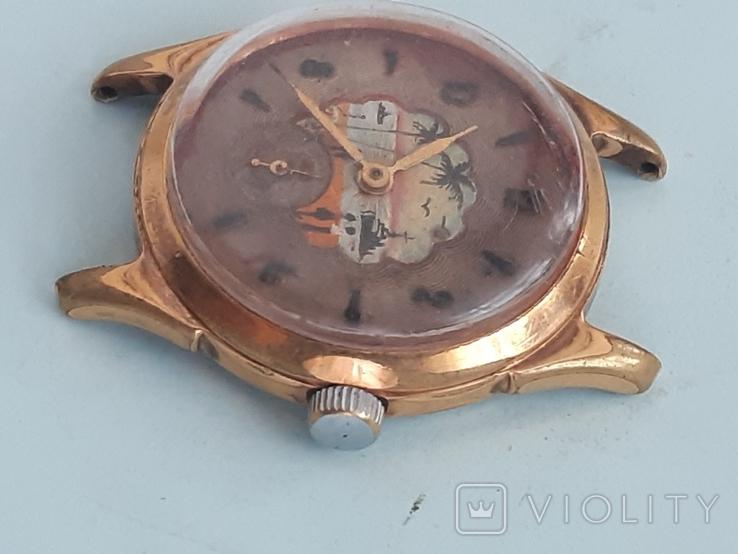 Часы позолоченные с рисунком, фото №8