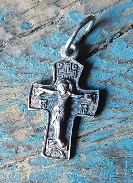 Крестик серебро,925 пробы, фото №2
