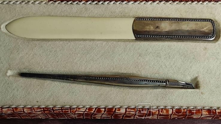 Письменный набор, серебро, фото №9