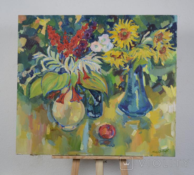 """Натюрморт. """"Цветы в вазе"""" Петр Добрев, фото №2"""