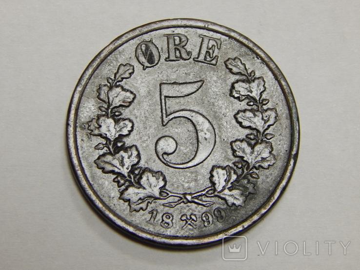 5 оре, 1899 г Норвегия, фото №2