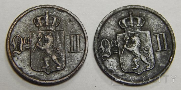 2 монеты по 1 оре, Норвегия, фото №3
