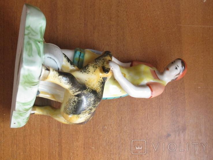 Девушка с теленком Барановка (?) автор Назаренко (?) читайте описание, фото №3