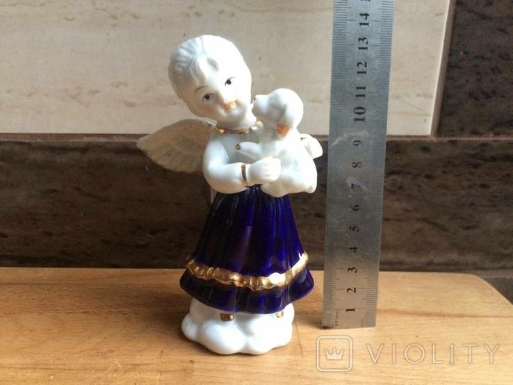 Девочка ангел с собачкой., фото №2