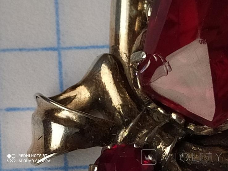 Подвеска серебро в позолоте, фото №5