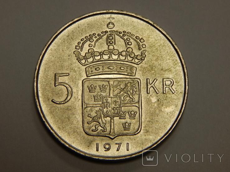 5 крон, 1971 г Швеция, фото №2