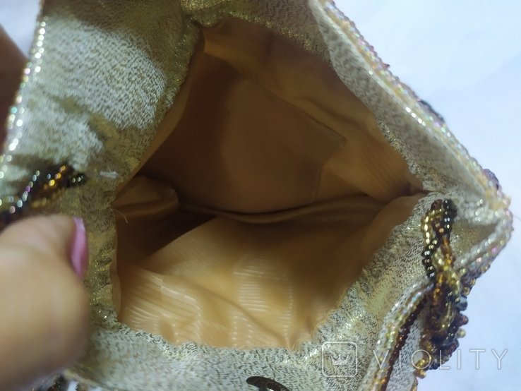 Сумочка в винтажном стиле. Расшивка бисером и бисерная бахрома, фото №11