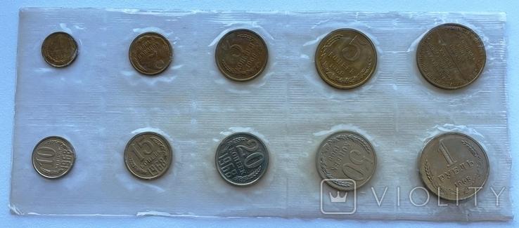 Годовой набор монет СССР 1968 года ЛМД в запайке, фото №4