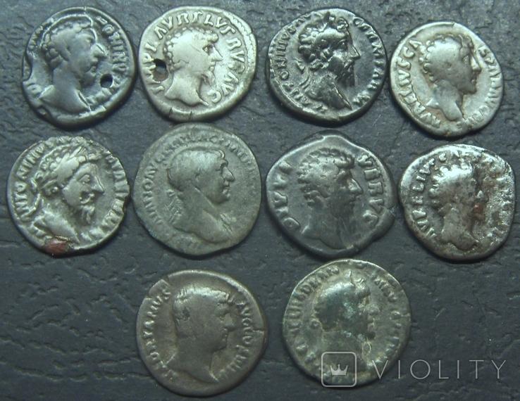 Монеты Древнего Рима (денарии) 10 штук, плюс бонус., фото №3